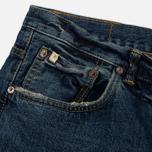 Мужские джинсы Edwin Classic Regular Tapered Rainbow Selvage Japan Denim 13 Oz Mid Dark Used фото- 3