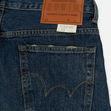 Мужские джинсы Edwin Classic Regular Tapered Rainbow Selvage Japan Denim 13 Oz Mid Dark Used фото- 4