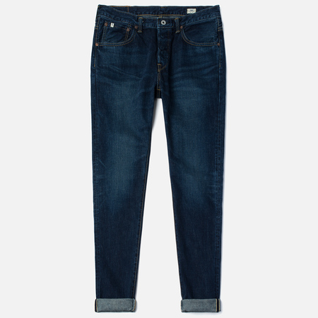 Edwin Classic Regular Tapered Rainbow Selvedge Japan 13 Oz Men's Jeans Dark Used
