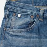 Мужские джинсы Edwin Classic Regular Tapered Rainbow Selvedge Japan 13 Oz Mid Dark Used фото- 1