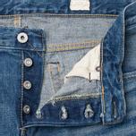 Мужские джинсы Edwin Classic Regular Tapered Rainbow Selvedge Japan 13 Oz Mid Dark Used фото- 2