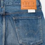 Мужские джинсы Edwin Classic Regular Tapered Rainbow Selvedge Japan 13 Oz Mid Dark Used фото- 3