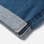 Мужские джинсы Edwin Classic Regular Tapered Rainbow Selvedge Japan 13 Oz Mid Dark Used фото- 4