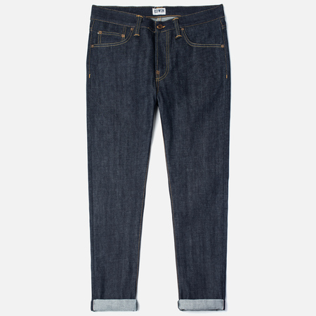 Мужские джинсы Edwin ED-39 Regular Loose Red Listed Selvedge 14 Oz Blue Unwashed
