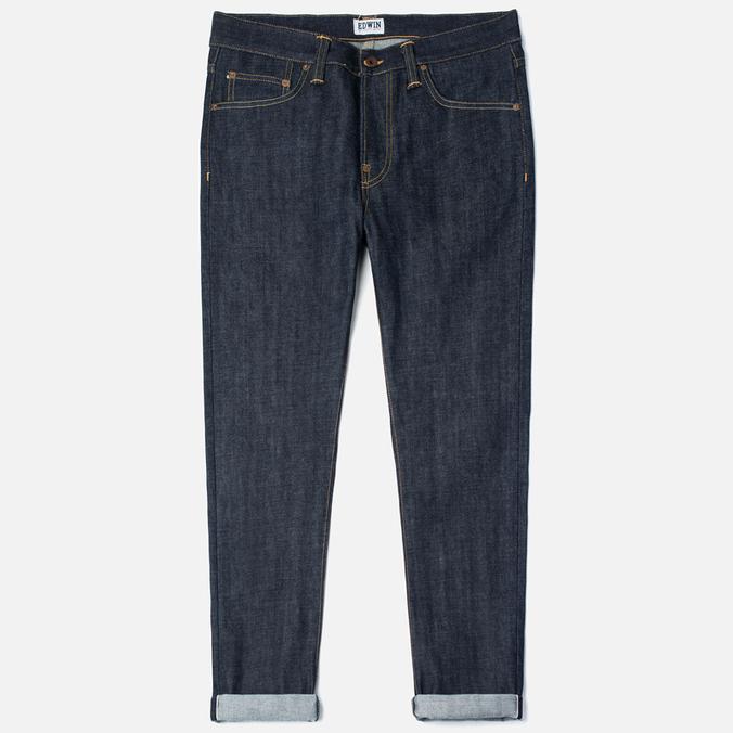 Edwin ED-39 Regular Loose Red Listed Selvedge 14 Oz Men's Jeans Blue Unwashed