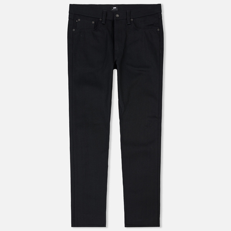 Мужские джинсы Edwin ED-45 Red Selvage Black Denim 13.5 Oz Black Unwashed