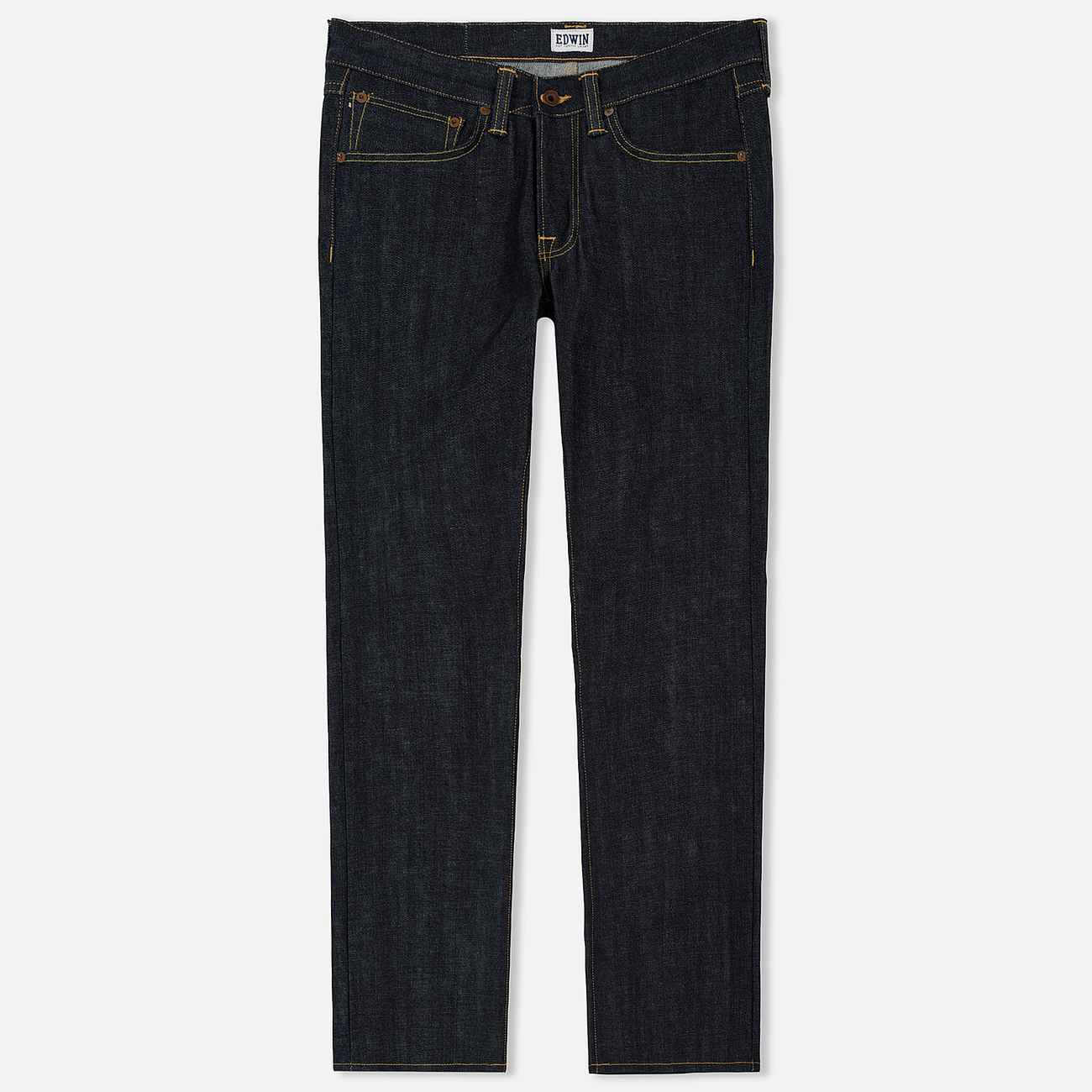Мужские джинсы Edwin ED-47 Regular Straight Red Listed Selvage Blue Unwashed