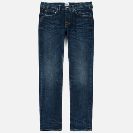 Мужские джинсы Edwin ED-55 63 Rainbow Selvage Denim 12.8 Oz Blue Contrast Clean Wash