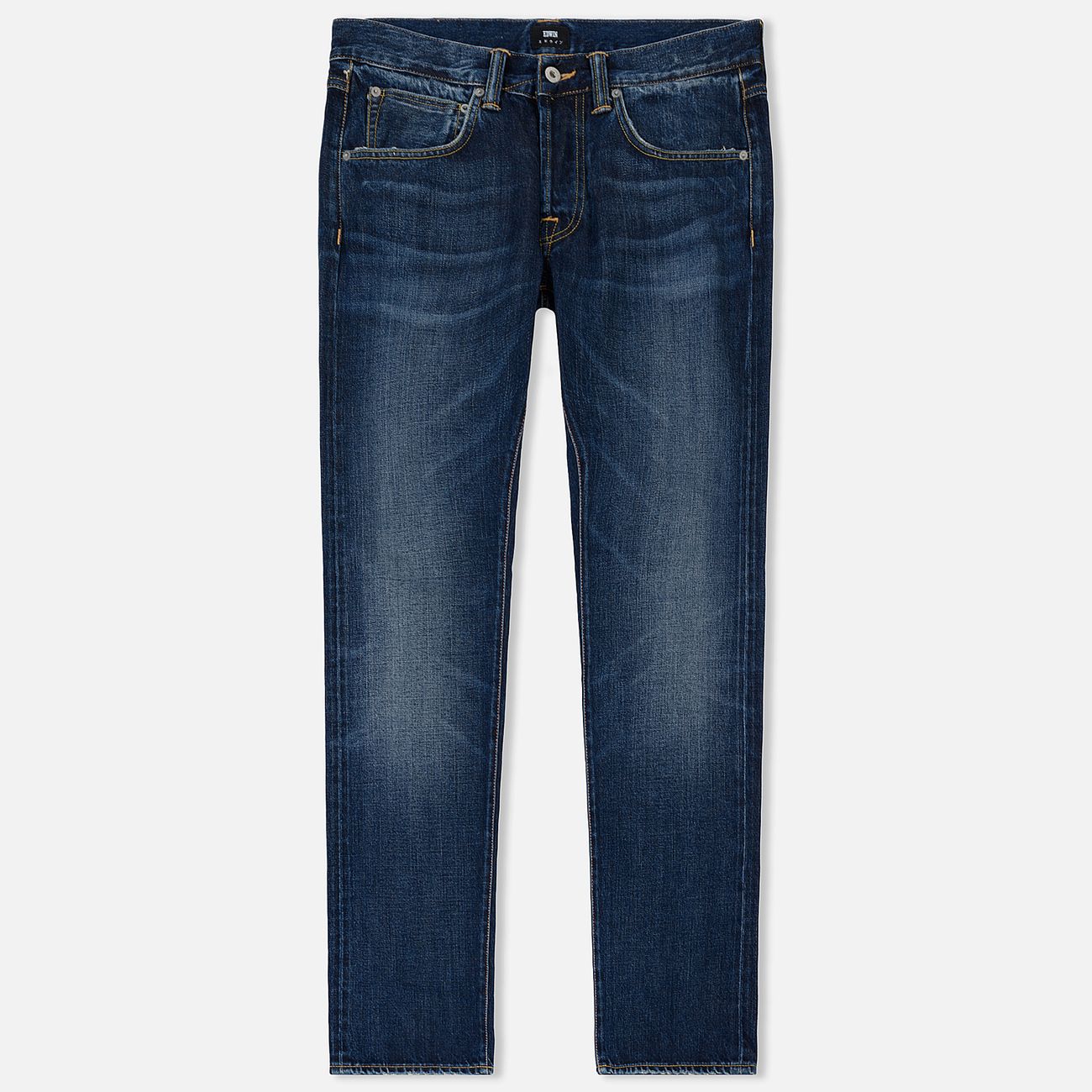 Мужские джинсы Edwin ED-55 63 Rainbow Selvage Denim 12.8 Oz Blue Hiraku Wash