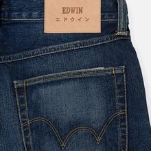 Мужские джинсы Edwin ED-55 63 Rainbow Selvage Denim 12.8 Oz Blue Hiraku Wash фото- 5