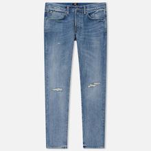 Мужские джинсы Edwin ED-55 63 Rainbow Selvage Denim 12.8 Oz Blue Manami Repair Wash фото- 0