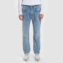 Мужские джинсы Edwin ED-55 63 Rainbow Selvage Denim 12.8 Oz Blue Manami Repair Wash фото- 1