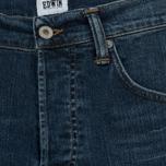 Мужские джинсы Edwin ED-55 CS Night Blue Denim 11 Oz Blue Mid Trip Used фото- 3