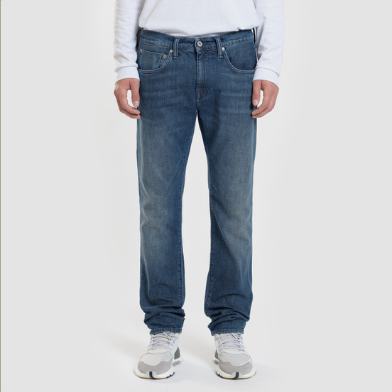 Мужские джинсы Edwin ED-55 CS Red Listed Blue Denim 12.75 Oz Blue Mission Wash