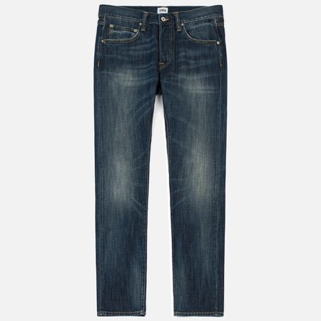 Мужские джинсы Edwin ED-55 Dark Blue Denim 12 Oz Blue Grime Dirt Wash