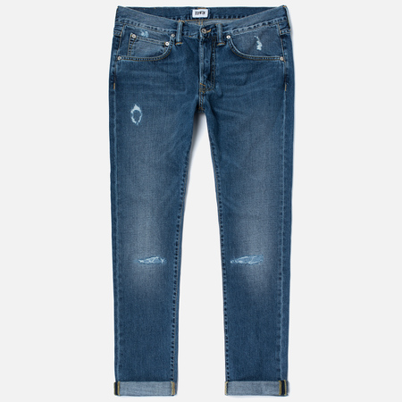 Мужские джинсы Edwin ED-55 Deep Blue Denim 11.8 Oz Blue Broken Washed