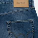 Мужские джинсы Edwin ED-55 Deep Blue Denim 11.8 Oz Blue Broken Washed фото- 3
