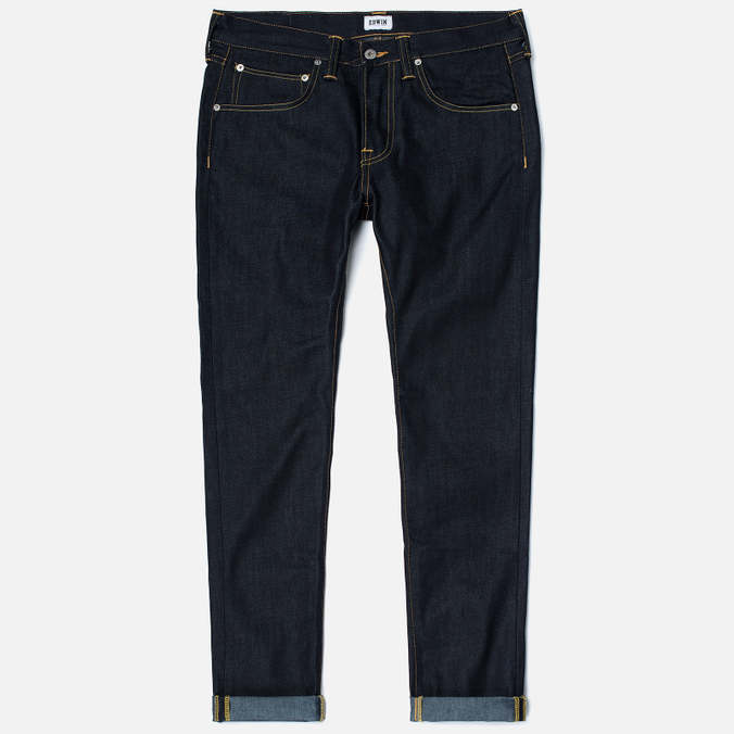 Мужские джинсы Edwin ED-55 Deep Blue Denim 11.8 Oz Blue Unwashed