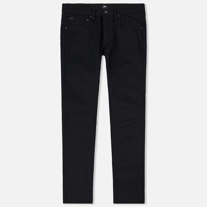 Мужские джинсы Edwin ED-55 Red Selvage Black Denim 13.5 Oz Unwashed