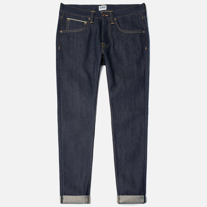Мужские джинсы Edwin ED-55 Relaxed Tapered 63 Rainbow Selvage Blue Unwashed