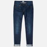 Мужские джинсы Edwin ED-55 Relaxed Tapered Compact Indigo 11.5 Oz Blue Coal Wash фото- 0