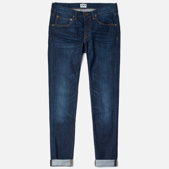 Мужские джинсы Edwin ED-55 Relaxed Tapered Compact Indigo 11.5 Oz Blue Coal Wash