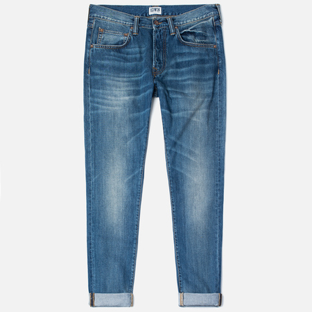 Мужские джинсы Edwin ED-55 Relaxed Tapered Compact Indigo 11.5 Oz Blue Mid Glint Use