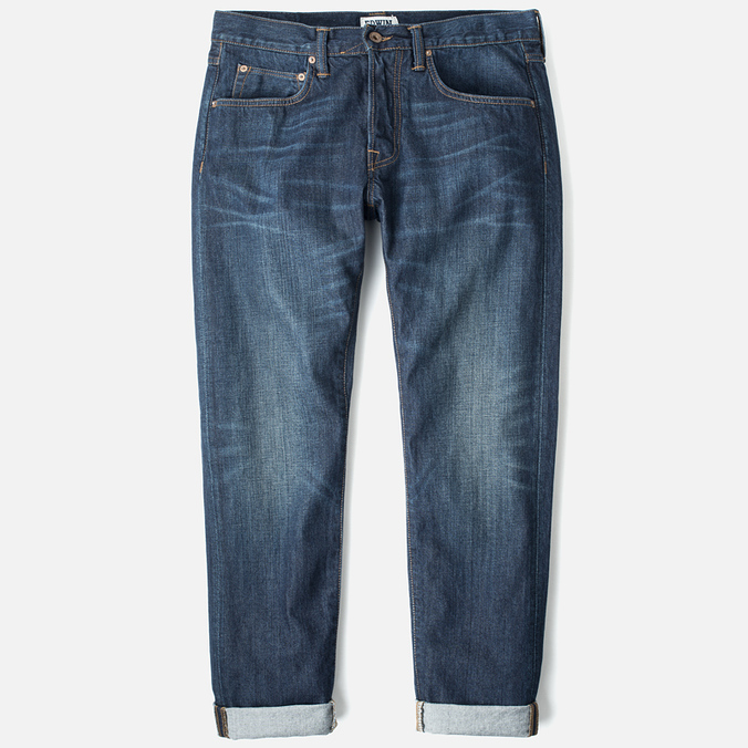 Edwin ED-55 Relaxed Tapered Compact Indigo Men's Jeans Dark Used
