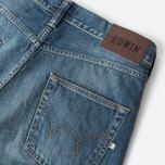 Мужские джинсы Edwin ED-55 Relaxed Tapered Compact Indigo Mid Used фото- 1