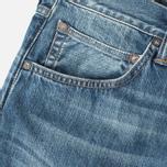 Мужские джинсы Edwin ED-55 Relaxed Tapered Compact Indigo Mid Used фото- 2