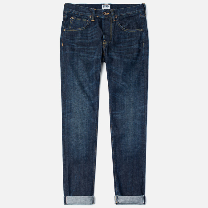 Мужские джинсы Edwin ED-55 Relaxed Tapered Red Listed Selvage Burner Wash