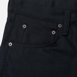 Мужские джинсы Edwin ED-55 Relaxed Tapered White Listed Black Selvedge 13 Oz Black фото- 1