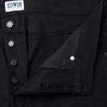 Мужские джинсы Edwin ED-55 Relaxed Tapered White Listed Black Selvedge 13 Oz Black фото- 2