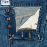Мужские джинсы Edwin ED-55 White Listed Indigo 12.5 Oz Blue Mid Sifted фото- 2
