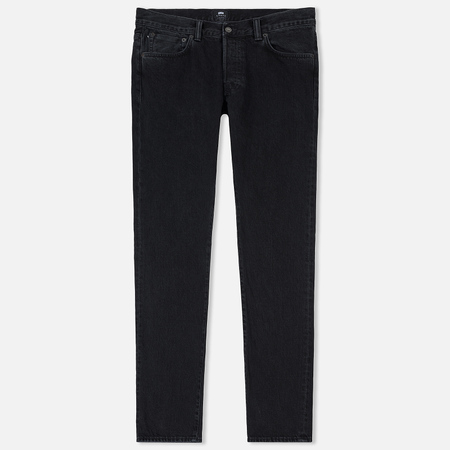 Мужские джинсы Edwin ED-71 Red Selvage Black Denim 13.5 Oz Black Ragny Wash