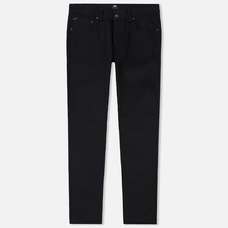 Мужские джинсы Edwin ED-71 Red Selvage Black Denim 13.5 Oz Black Unwashed
