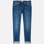 Edwin ED-75 Mid Rise Tapered CS Night Blue 12 Oz Men's Jeans Blue Mid Trip Used photo- 0