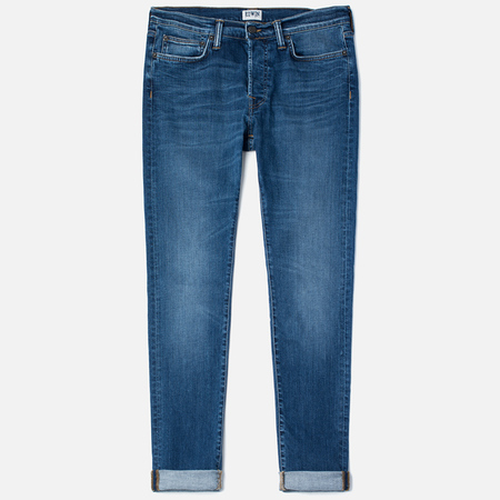 Мужские джинсы Edwin ED-75 Mid Rise Tapered CS Night Blue 12 Oz Blue Mid Trip Used