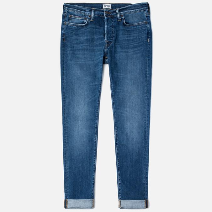 Edwin ED-75 Mid Rise Tapered CS Night Blue 12 Oz Men's Jeans Blue Mid Trip Used