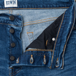 Edwin ED-75 Mid Rise Tapered CS Night Blue 12 Oz Men's Jeans Blue Mid Trip Used photo- 2