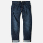 Мужские джинсы Edwin ED-75 Mid Rise Tapered CS Night Blue Dark Trip Used фото- 0