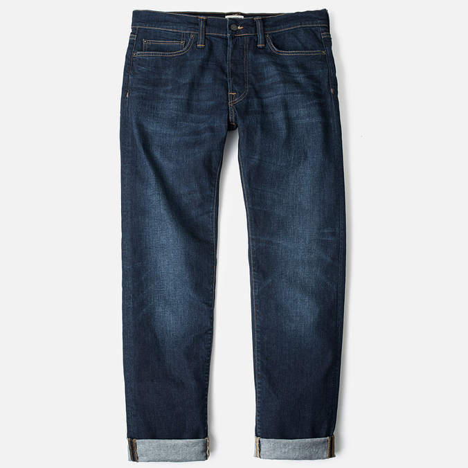 Мужские джинсы Edwin ED-75 Mid Rise Tapered CS Night Blue Dark Trip Used