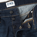 Мужские джинсы Edwin ED-75 Mid Rise Tapered CS Night Blue Dark Trip Used фото- 3