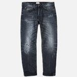 Мужские джинсы Edwin ED-75 Mid Rise Tapered White Listed Selvage HR-9 Black фото- 0