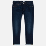 Мужские джинсы Edwin ED-80 CS Night Blue Denim 11 Oz Dark Trip Used фото- 0
