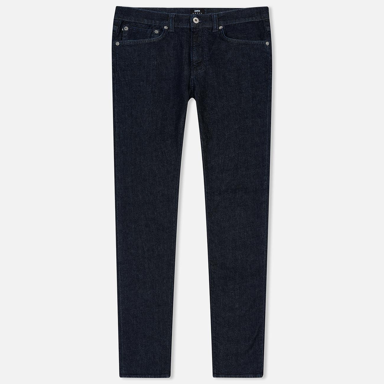 Мужские джинсы Edwin ED-80 CS Red Listed Blue Denim 12.75 Oz Blue Rinsed