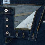 Мужские джинсы Edwin ED-80 CS Red Listed Selvage Denim 10.5 Oz Blast Wash фото- 2