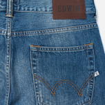 Мужские джинсы Edwin ED-80 Slim Tapered Compact Indigo 11.5 Oz Blue Mid Glint Use фото- 2