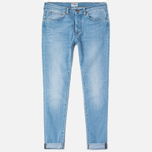 Мужские джинсы Edwin ED-80 Slim Tapered CS Night Blue 11 Oz Blue Light Trip Used фото- 0
