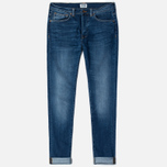 Мужские джинсы Edwin ED-80 Slim Tapered CS Night Blue 11 Oz Blue Mid Trip Used фото- 0